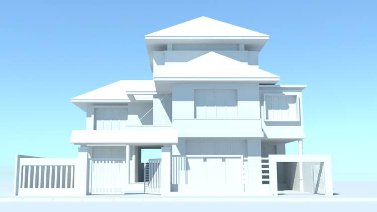 Exterior: Free 3D Scene House Model Sketchup File 48 By Vo Quang Tuan