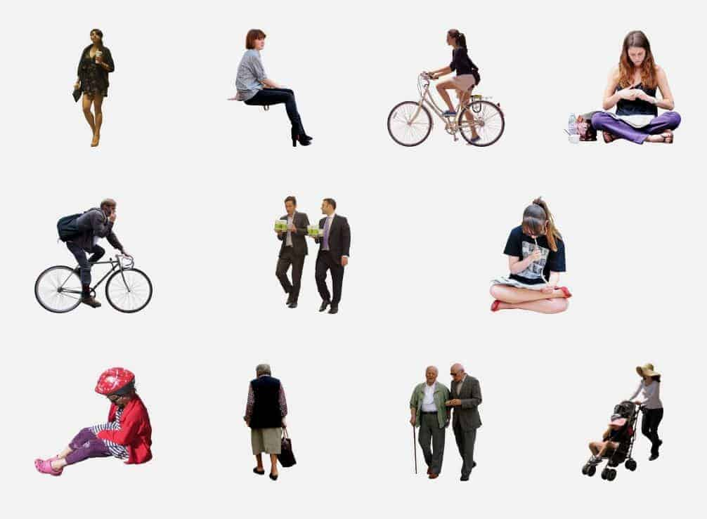 Free Cutouts people from Architextur.Es