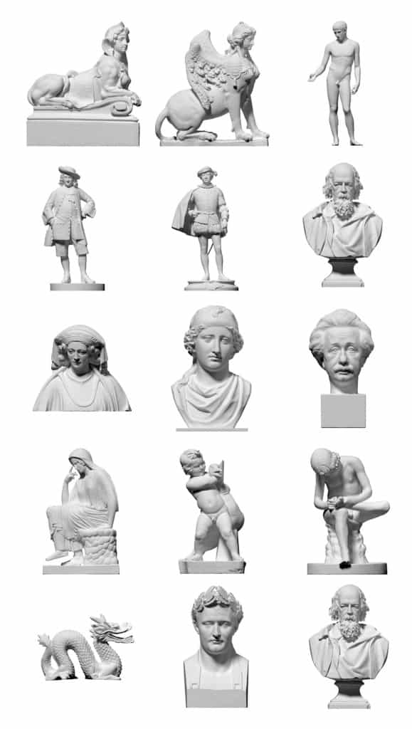 3D Scanned Objects from Three D Scan
