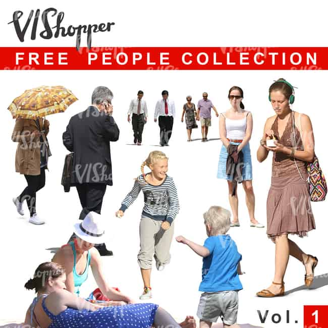 Free Cut Out People Collection Vol 1 from VIShopper