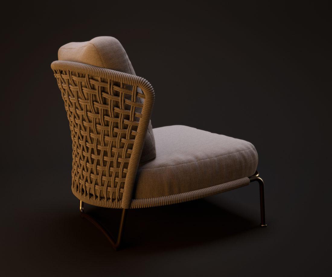 Minotti Aston Exterior Armchair from Johnymrazko