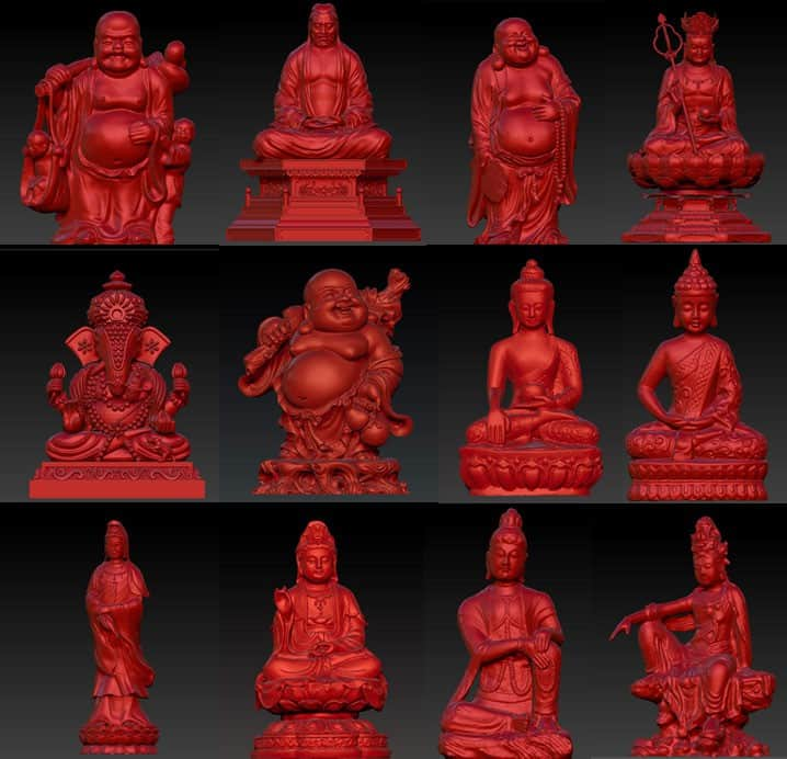 Free Download Buddha 3D Models from 3D Workshop