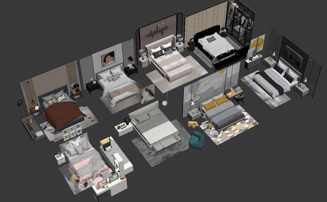 Free 3d Model Beds 10 by Doan Nguyen