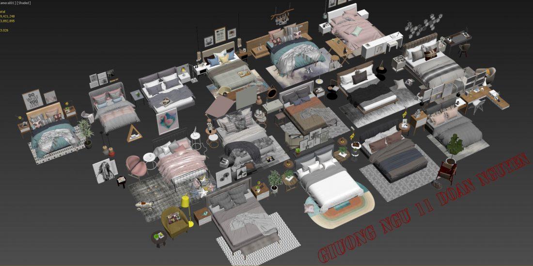 Free 3d Model Beds 11 by Doan Nguyen