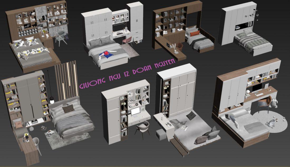 Free 3d Model Beds 12 by Doan Nguyen